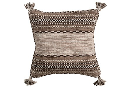 Accent Pillow-Mocha Tassels 20X20