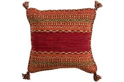 Accent Pillow-Orange Tassels 20X20