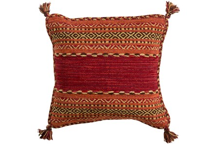 Accent Pillow-Orange Tassels 20X20 - Main