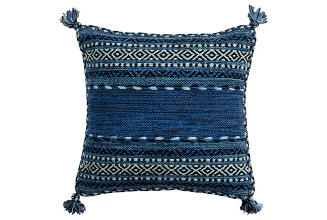 Accent Pillow-Denim Tassels 20X20 - 360