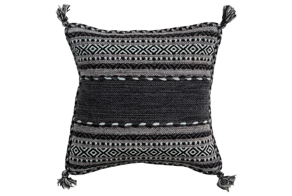 Accent Pillow-Black Tassels 18X18
