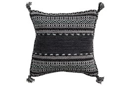 Accent Pillow-Black Tassels 18X18