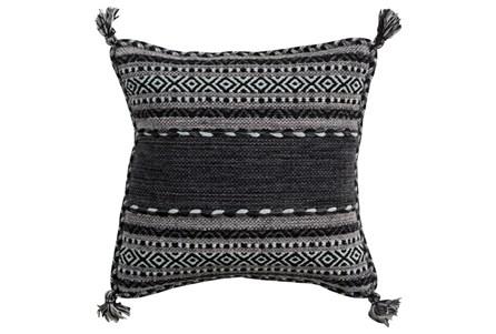 Accent Pillow-Black Tassels 18X18 - Main