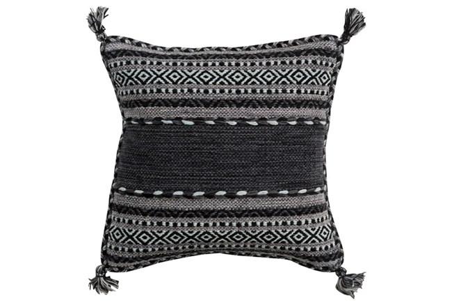 Accent Pillow-Black Tassels 18X18 - 360