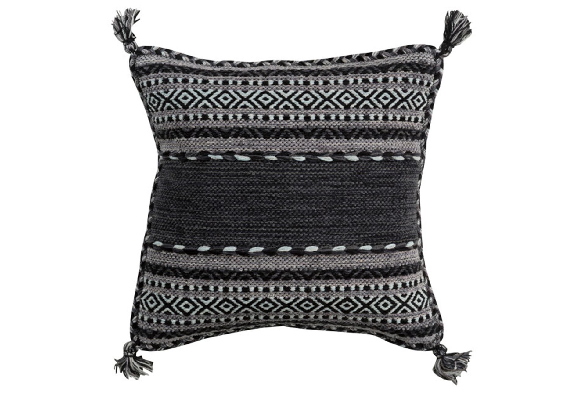 Accent Pillow Black Tassels 18X18 (Qty: 1) Has Been Successfully Added To  Your Cart.