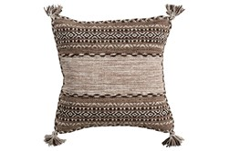 Accent Pillow-Mocha Tassels 18X18