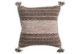 Accent Pillow-Mocha Tassels 18X18