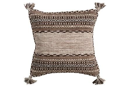 Accent Pillow-Mocha Tassels 18X18 - Main