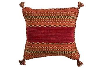 Accent Pillow-Orange Tassels 18X18