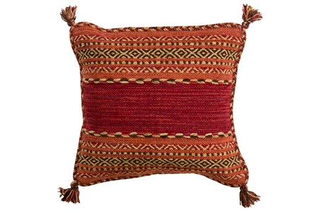 Accent Pillow-Orange Tassels 18X18