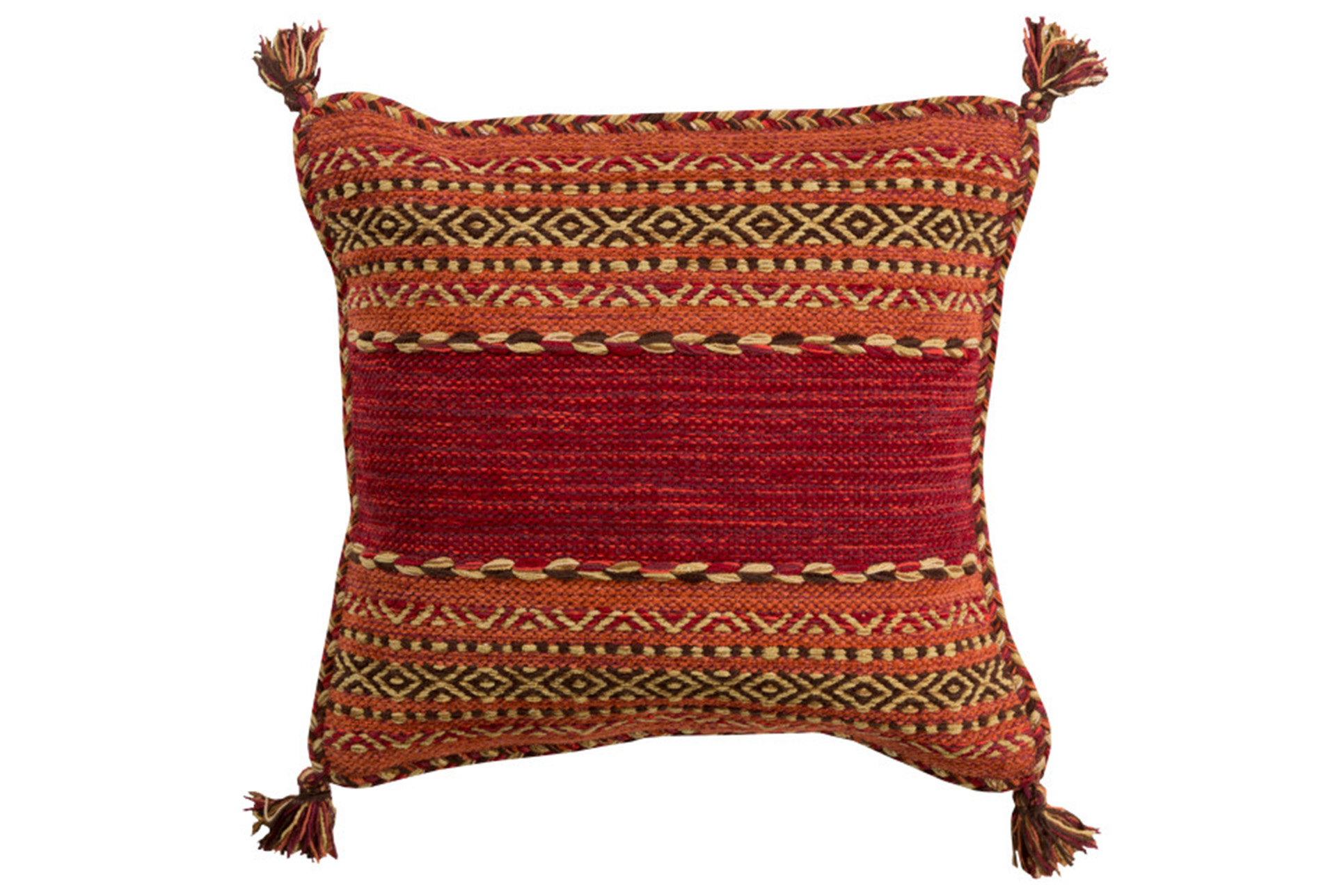 Accent Pillow Orange Tassels 18X18 (Qty: 1) Has Been Successfully Added To  Your Cart.