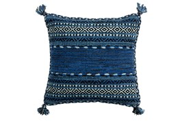 Accent Pillow-Denim Tassels 18X18