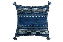 Accent Pillow-Denim Tassels 18X18