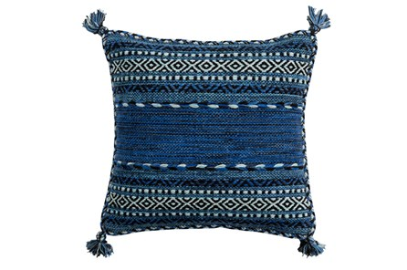 Accent Pillow-Denim Tassels 18X18 - Main