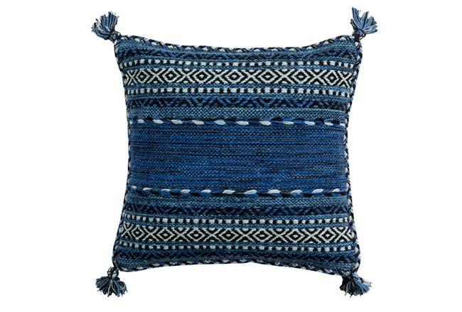 Accent Pillow-Denim Tassels 18X18 - 360