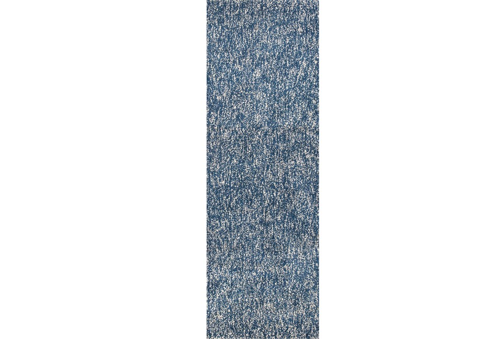 27X90 Rug-Elation Shag Heather Indigo