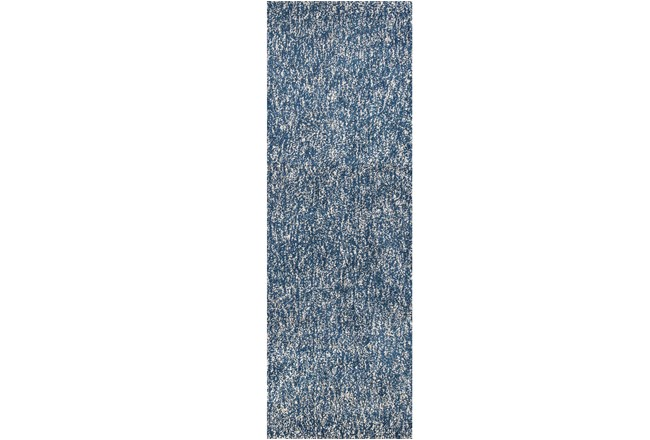 27X90 Rug-Elation Shag Heather Indigo - 360