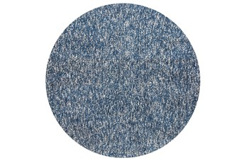 72 Inch Round Rug-Elation Shag Heather Indigo