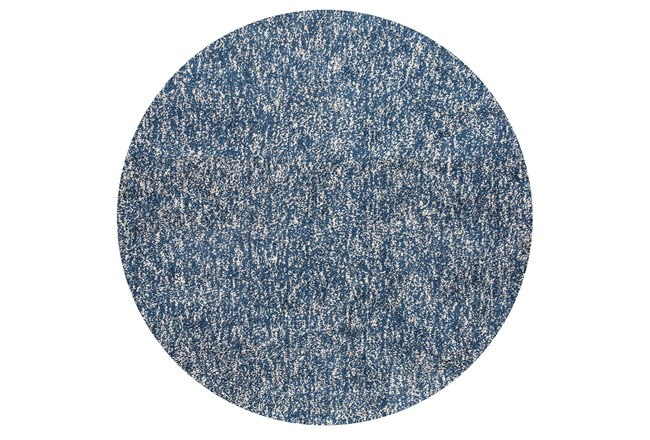 72 Inch Round Rug-Elation Shag Heather Indigo - 360