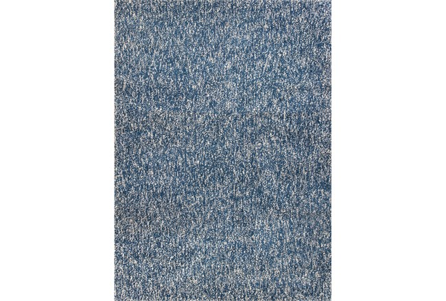 96X132 Rug-Elation Shag Heather Indigo - 360