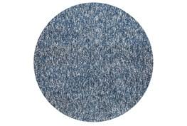 96 Inch Round Rug-Elation Shag Heather Indigo