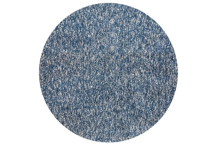 96 Inch Round Rug-Elation Shag Heather Indigo