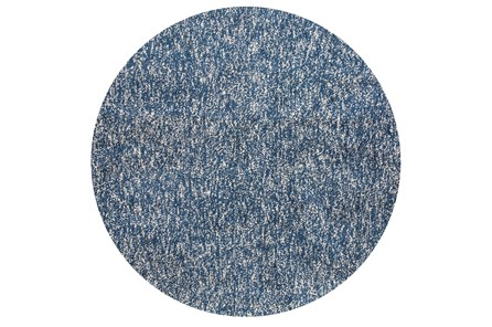 96 Inch Round Rug-Elation Shag Heather Indigo - Main