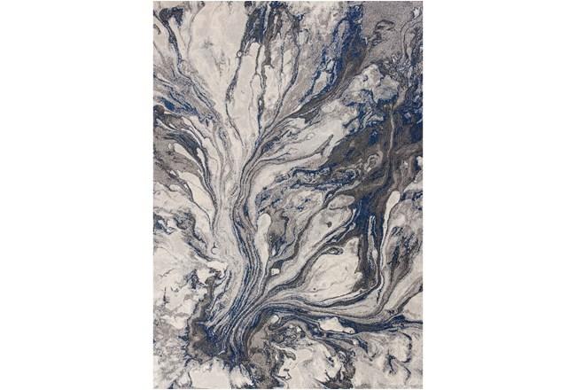 """3'3""""x4'9"""" Rug-Grey/Blue Marble Swirl - 360"""