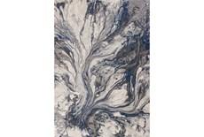 63X91 Rug-Grey/Blue Marble Swirl