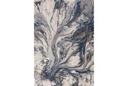 """5'3""""x7'6"""" Rug-Grey/Blue Marble Swirl"""