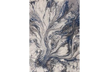 63X91 Rug-Grey/Blue Marble Swirl - Main