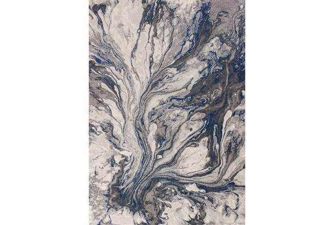 """5'3""""x7'6"""" Rug-Grey/Blue Marble Swirl - 360"""
