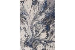 94X130 Rug-Grey/Blue Marble Swirl