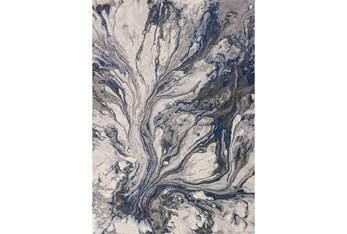 """7'8""""x10'8"""" Rug-Grey/Blue Marble Swirl"""