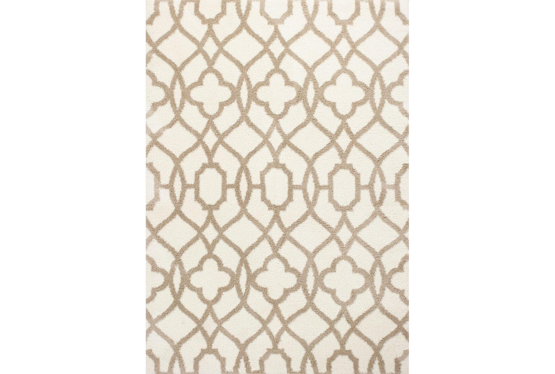 94x126 rug-reece trellis beige | living spaces Beige Rug