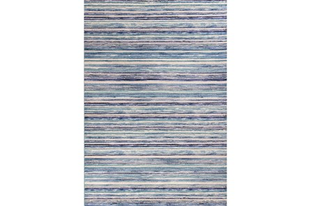 63X91 Rug-Wesley Stripe Blue - Main