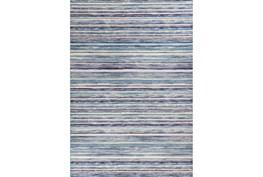 79X114 Rug-Wesley Stripe Blue