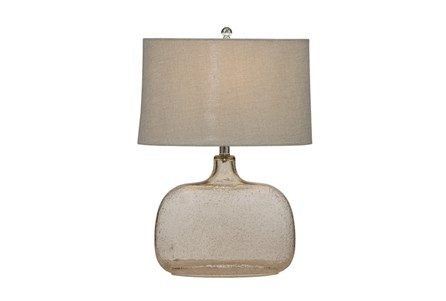 Table Lamp-Champagne Seed Glass