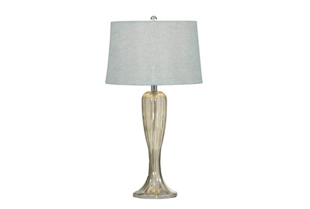 Table Lamp-Fluted Mercury Glass