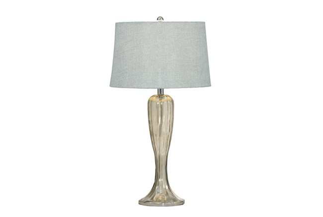 Table Lamp-Fluted Mercury Glass - 360