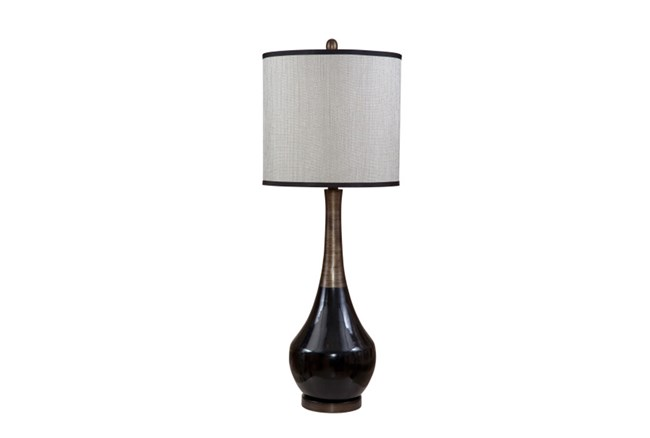 Table Lamp-Black With Tan Neck - 360