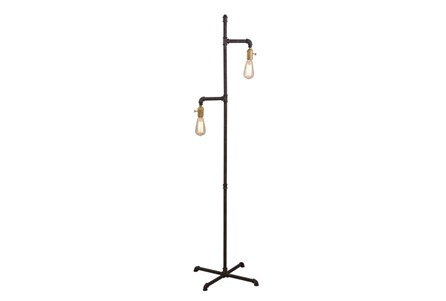Floor Lamp-Iron Industrial Pipe
