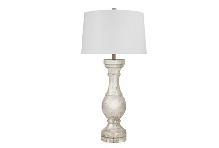 Table Lamp-Mercury Glass Column