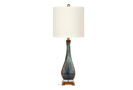 Table Lamp-Blue Washed Twist