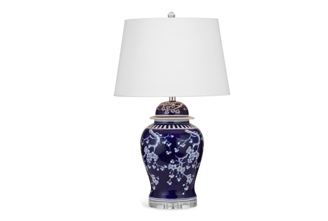 Table Lamp-Blue Cherry Blossom - 360