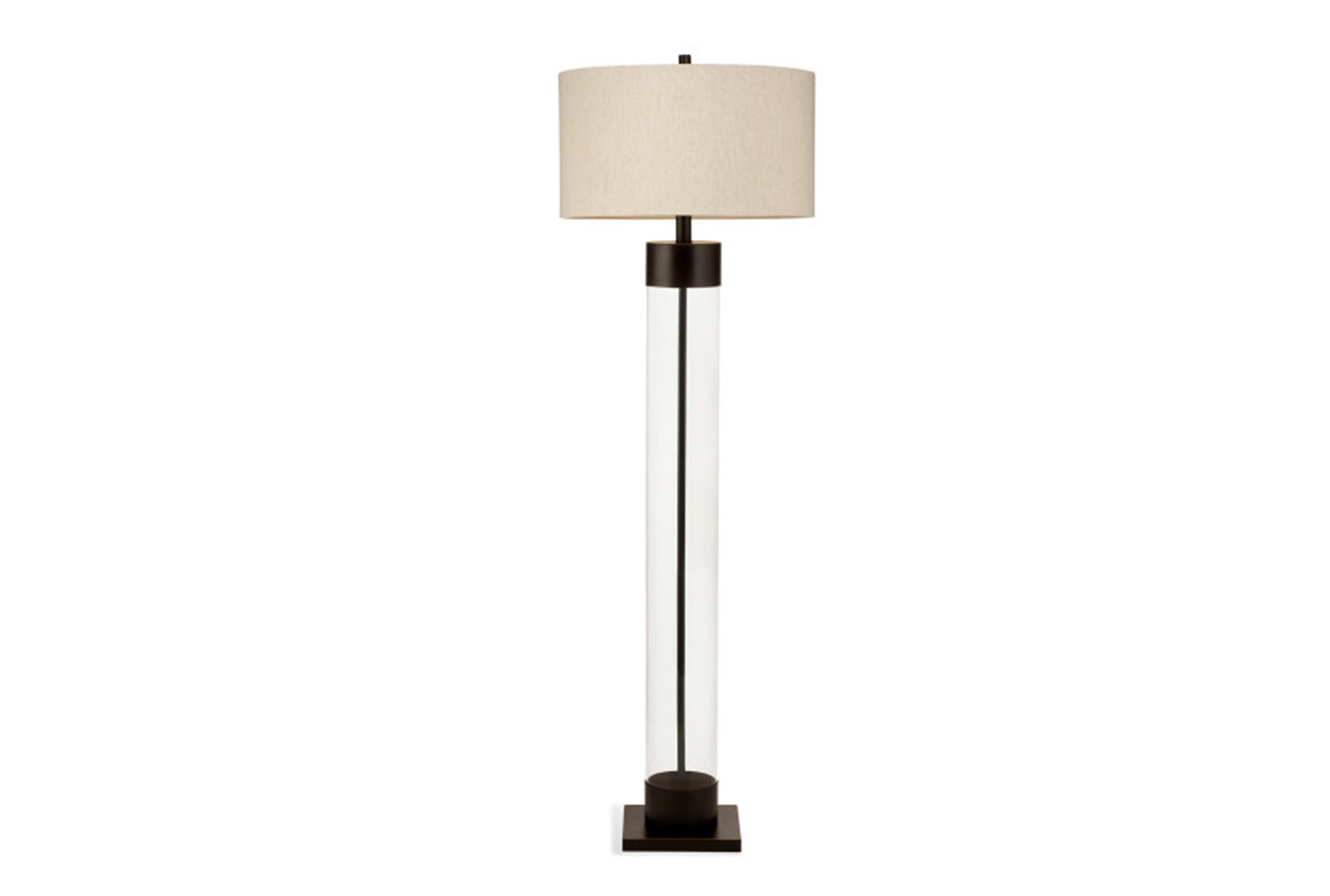 Floor Lamp Bronze And Glass Column