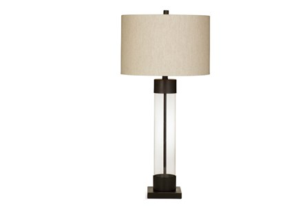 Table Lamp-Bronze And Glass Column