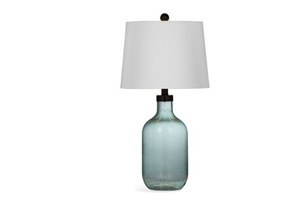 Table Lamp-Blue Glass Jug