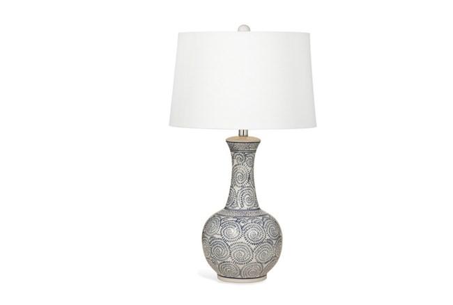 Table Lamp-Indigo Pinwheels Genie - 360
