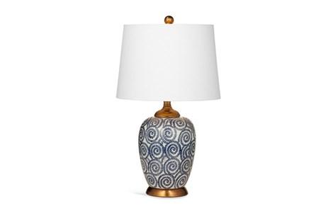 Table Lamp-Indigo Pinwheels